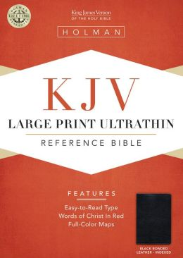 KJV Large Print Ultrathin Reference Bible, Black Bonded Leather Indexed