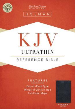 KJV Ultrathin Reference Bible, Black Bonded Leather