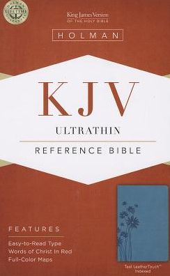 KJV Ultrathin Reference Bible, Teal LeatherTouch Indexed
