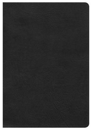 NKJV Large Print Ultrathin Reference Bible, Black LeatherTouch