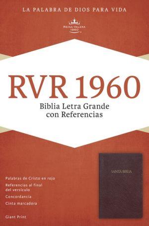 RVR 1960 Biblia Letra Grande con Referencias, borgona imitacion piel con indice