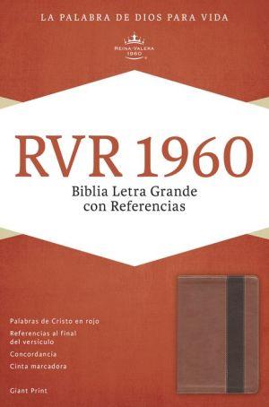 RVR 1960 Biblia Letra Grande con Referencias, cobre/marron profundo simil piel