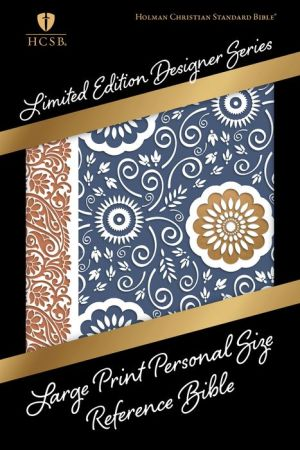 HCSB Large Print Personal Size Reference Bible, Designer Series, Bohemian Paisley LeatherTouch
