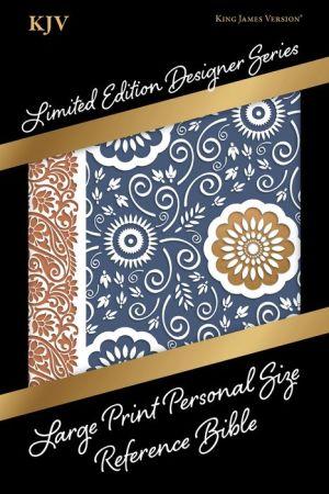 KJV Large Print Personal Size Reference Bible, Designer Series, Bohemian Paisley, LeatherTouch
