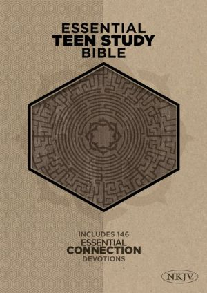 The NKJV Essential Teen Study Bible, Gray Cork LeatherTouch
