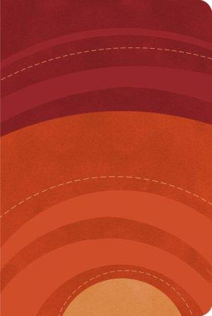 RVR 1960 Biblia Letra Grande Tamano Manual rojo/naranja, simil piel
