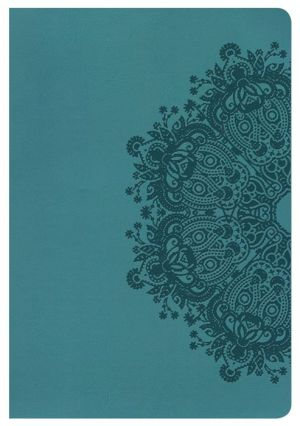 KJV Giant Print Reference Bible, Teal LeatherTouch, Indexed