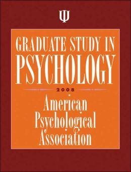 Graduate Study in Psychology