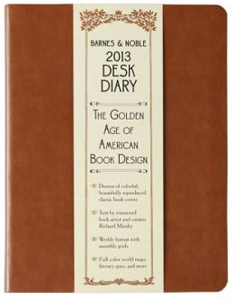 2013 Barnes & Noble Softcover Brown Desk Diary