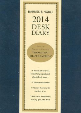 2014 Barnes & Noble Softcover Desk Diary (blue)