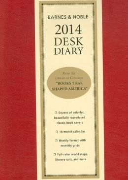 2014 Barnes & Noble Softcover Desk Diary (red)