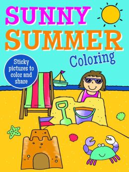 Sunny Summer Coloring (Sticky Note Pad)