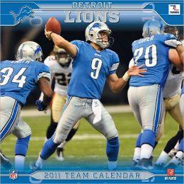 2011 Detroit Lions 12X12 Wall Calendar