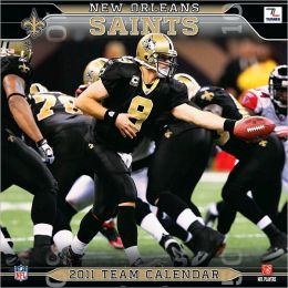 2011 New Orleans Saints 12X12 Wall Calendar