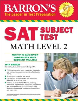 Barron's SAT Subject Test Math Level 2, 10th Edition