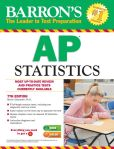 Book Cover Image. Title: Barron's AP Statistics, 7th Edition, Author: Marty Sternstein