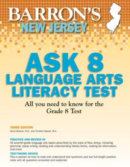 Barron's New Jersey ASK 8 Language Arts Literacy Test, 3rd Edition