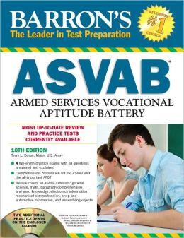 Barron's ASVAB with CD-ROM, 10th Edition
