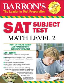 Barron's SAT Subject Test Math Level 2 with CD-ROM, 10th Edition