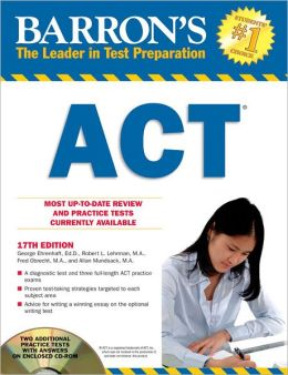 Barron's ACT with CD-ROM, 17th Edition