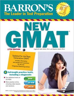 Barron's GMAT with CD-ROM, 17th Edition