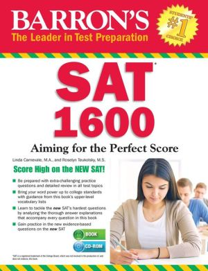 Barron's SAT 1600 with CD-ROM: Revised for the NEW SAT