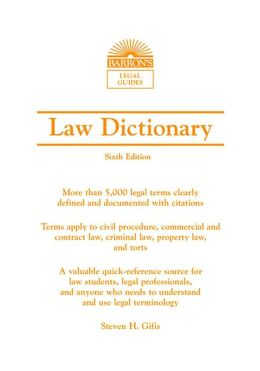 Law Dictionary, Mass Market, 6th Ed.