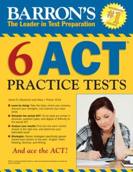 ACT 6 Practice Tests, 1st edition
