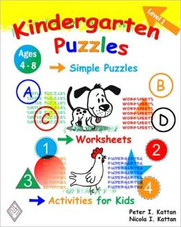 Kindergarten Puzzles - Level 1: Simple Puzzles, Worksheets, and Activities for Kids