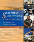 Book Cover Image. Title: Management and Supervision in Law Enforcement, Author: Karen M. Hess