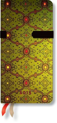 2013 French Ornate Vert Slim Weekly Dayplanner