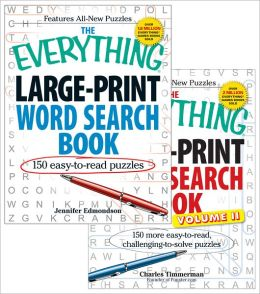 The Everything Large Print Word Search Bundle - Vol I and II