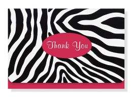 Zebra Thank You Notes Set Of 14