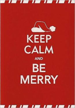 KEEP CALM AND BE MERRY CHRISTMAS BOXED CARD