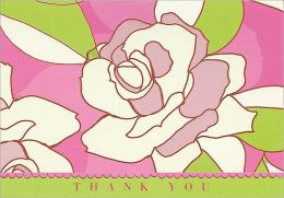 Contemporary Roses Thank You Notes Set of 14
