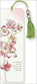 Orchid Beaded Paper Bookmark
