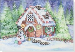 Gingerbread House Small Boxed Holiday Cards