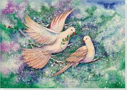 Two Turtledoves Deluxe Boxed Holiday Cards
