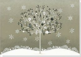 Silver Tree Large Boxed Holiday Cards