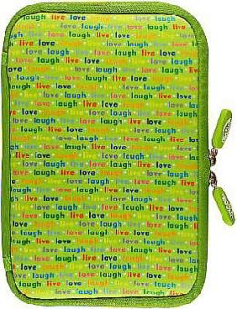 Neoskin Cover for Kindle Fire, Live, Love, Laugh (Neoprene Jacket, Case)