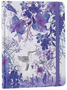 Hummingbird Purple Bound Journal 6