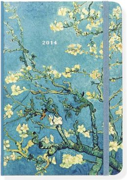 2014 Weekly Planner 5x7 Van Gogh Almond Tree Bound Engagement Calendar