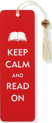 Keep Calm and Read On Beaded Paper Bookmark