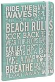 Product Image. Title: Beach Rules Blue Lined Bound Journal 6'' x 8''
