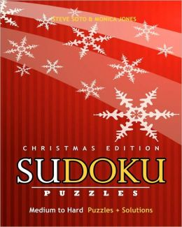 SUDOKU Puzzles - Christmas Edition, Medium to Hard: Puzzles + Solutions