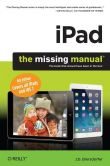 Book Cover Image. Title: iPad:  The Missing Manual, Author: Biersdorfer