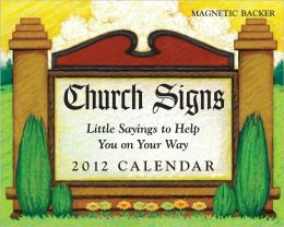 2012 Church Signs Mini Box Calendar