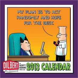 2013 Dilbert Mini Wall Calendar: What fantasy will I use today to stave off madness?