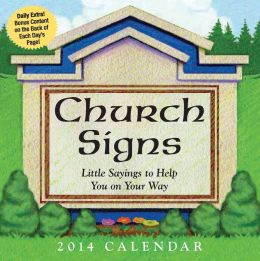 2014 Church Signs Day-to-Day Calendar