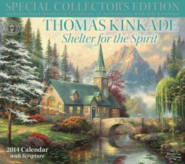 2014 Thomas Kinkade Special Collector's Edition with Scripture Deluxe Wall Calendar